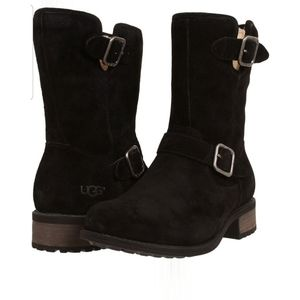 UGG Chaney Boots Black Suede sz 7